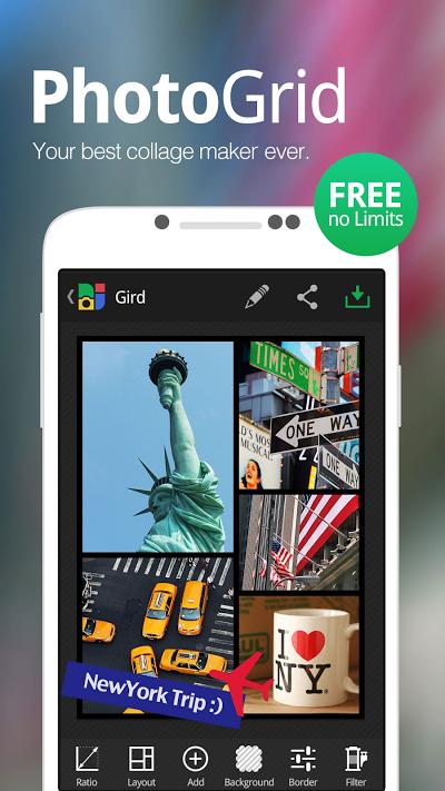 Photo Grid - 写真加工・コラージュ、ビューティーカメラ、画像・動画スタンプ Androidアプリ