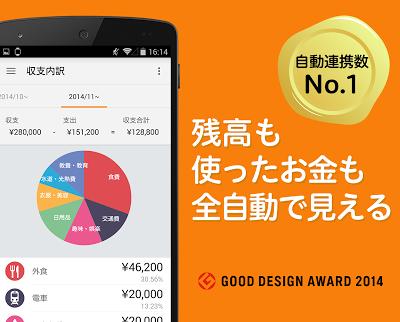 家計簿マネーフォワード ME 無料で、簡単に使えるお金の管理アプリ Androidアプリ