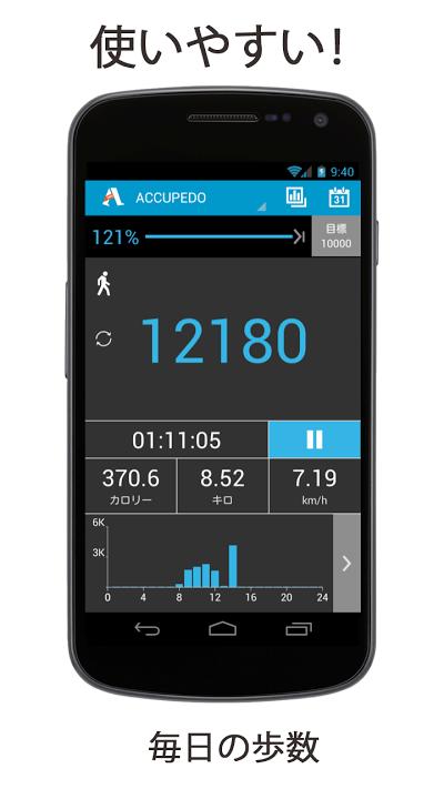 歩数計 - Accupedo Androidアプリ