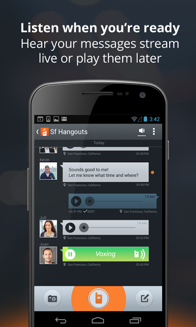 Voxer Walkie-Talkie PTT Androidアプリ