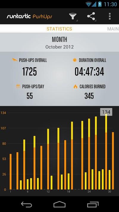 Runtastic Push-Ups PRO 腕立て伏せ Androidアプリ
