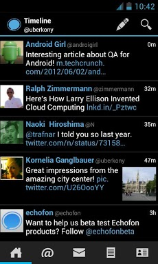 Echofon for Twitter Androidアプリ