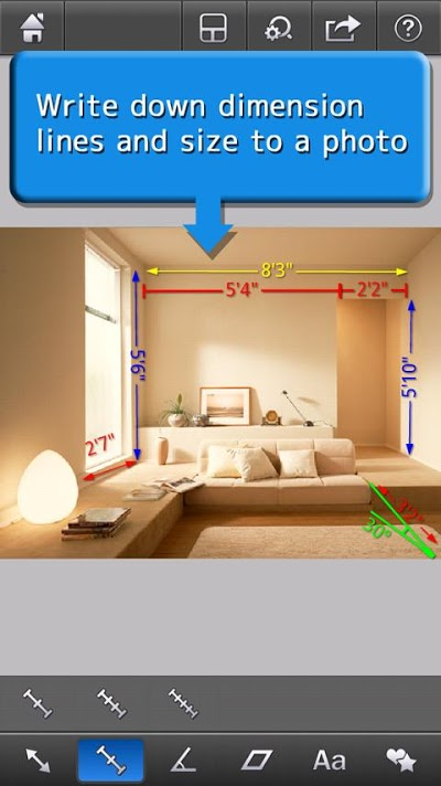 計測メモ - 写真に寸法をメモ - Androidアプリ