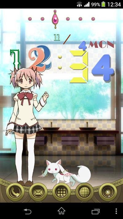 魔法少女まどか☆マギカfone [鹿目まどかVer.] Androidアプリ