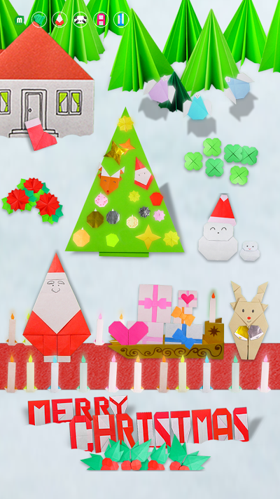 クリスマスおりがみ Androidアプリ