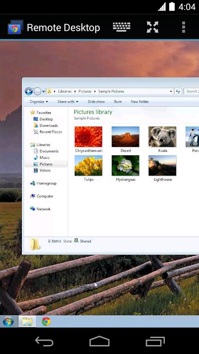 Chrome リモート デスクトップ Androidアプリ