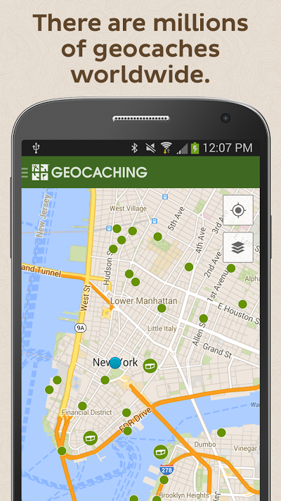 Geocaching® Androidアプリ