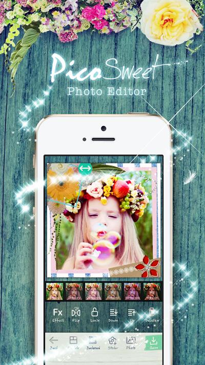 PicoSweet - 1タップでかわいいデコ かわいい写真加工 ピコスイート Androidアプリ