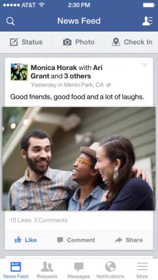 Facebook iPhoneアプリ