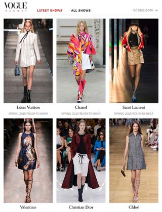 Vogue Runway Fashion Shows iPadアプリ