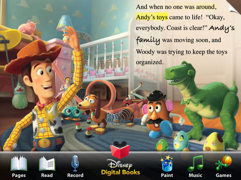 Toy Story Read-Along iPadアプリ
