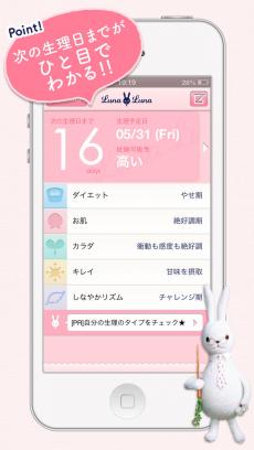 ルナルナアプリ iPhoneアプリ