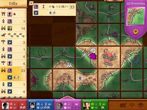Carcassonne iPadアプリ