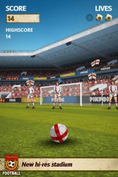 フリック・キック・フットボール iPhoneアプリ