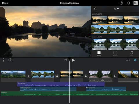 iMovie iPadアプリ