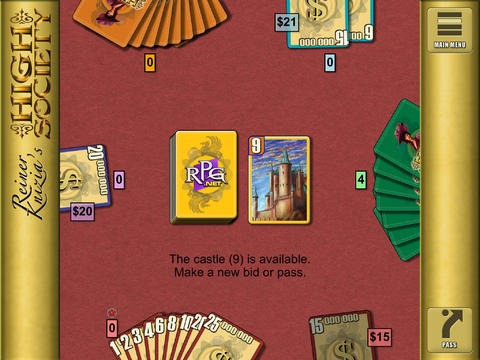 Reiner Knizia's High Society iPadアプリ