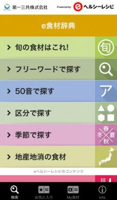 e食材辞典 for iPhone iPhoneアプリ