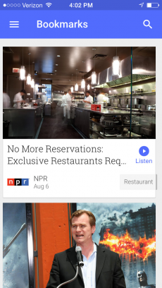 Google ニュース iPhoneアプリ