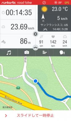 Runtastic ロードバイク記録サイコンアプリPRO iPhoneアプリ