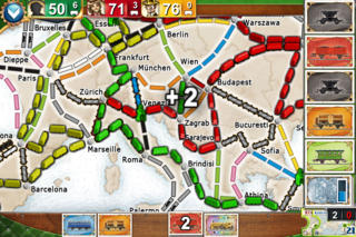 Ticket to Ride Europe Pocket iPhoneアプリ