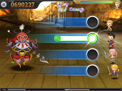 THEATRHYTHM FINAL FANTASY iPadアプリ