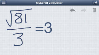 MyScript Calculator - 手書き電卓 iPhoneアプリ