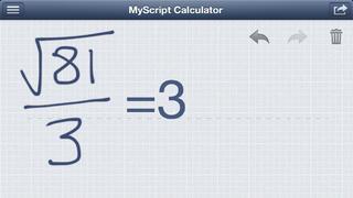 MyScript Calculator - 手書き電卓 iPhoneアプリ