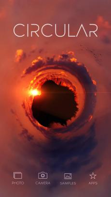 Circular Tiny Planet Editor iPhoneアプリ