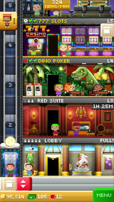 Tiny Tower Vegas iPhoneアプリ