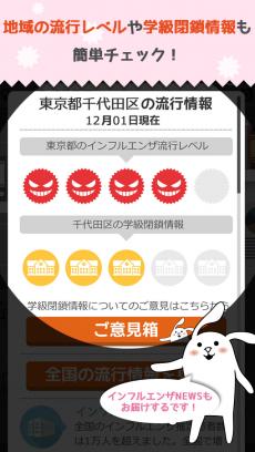 あなたの街のインフルエンザ速報 iPhoneアプリ