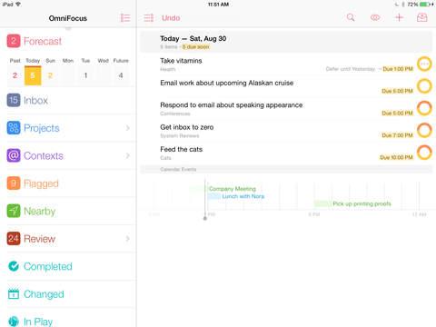 OmniFocus 2 iPadアプリ