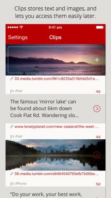 Clips - Copy and paste anywhere with widget and keyboard iPhoneアプリ