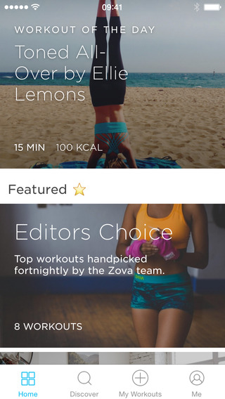 Zova: #1 At Home Workout App iPhoneアプリ