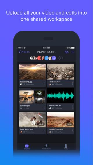 Frame.io iPhoneアプリ