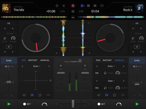 djay Pro iPadアプリ